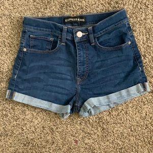 Express High waisted shorts size 6